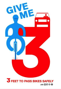 Give Me Three – Pass Bikes Safely
